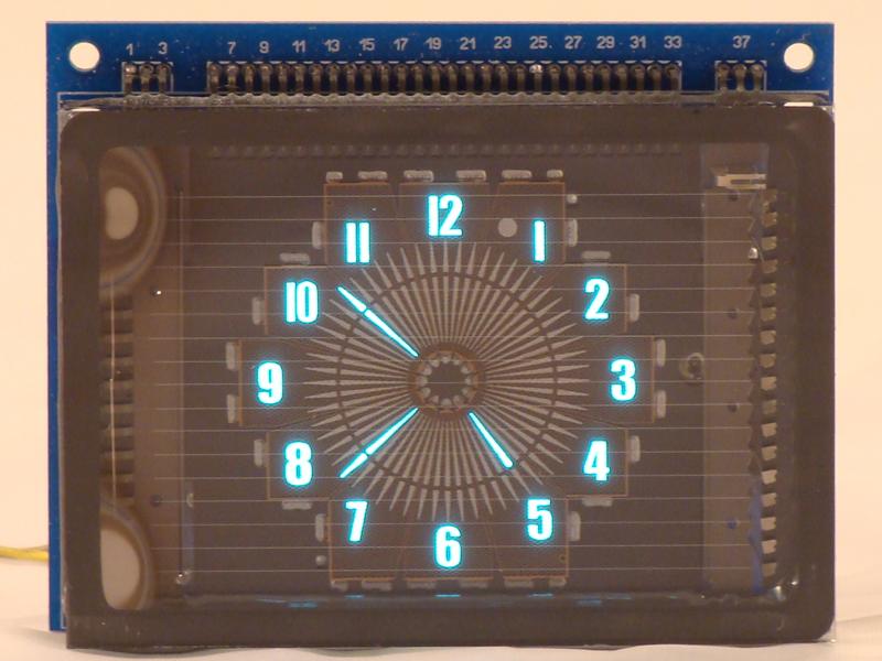 VFD Round Clock