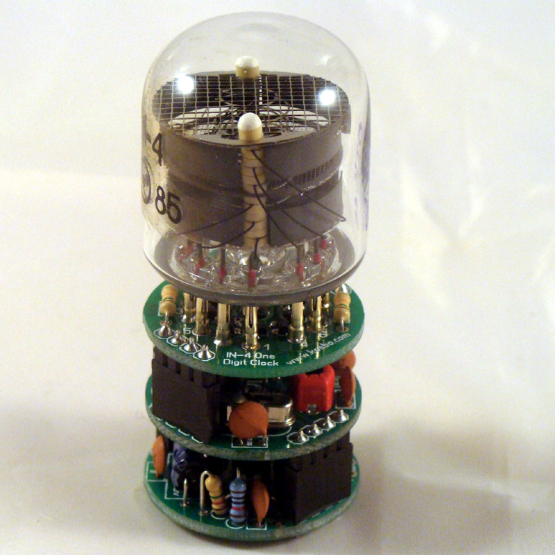 IN-4 1 Digit  Nixie Clock